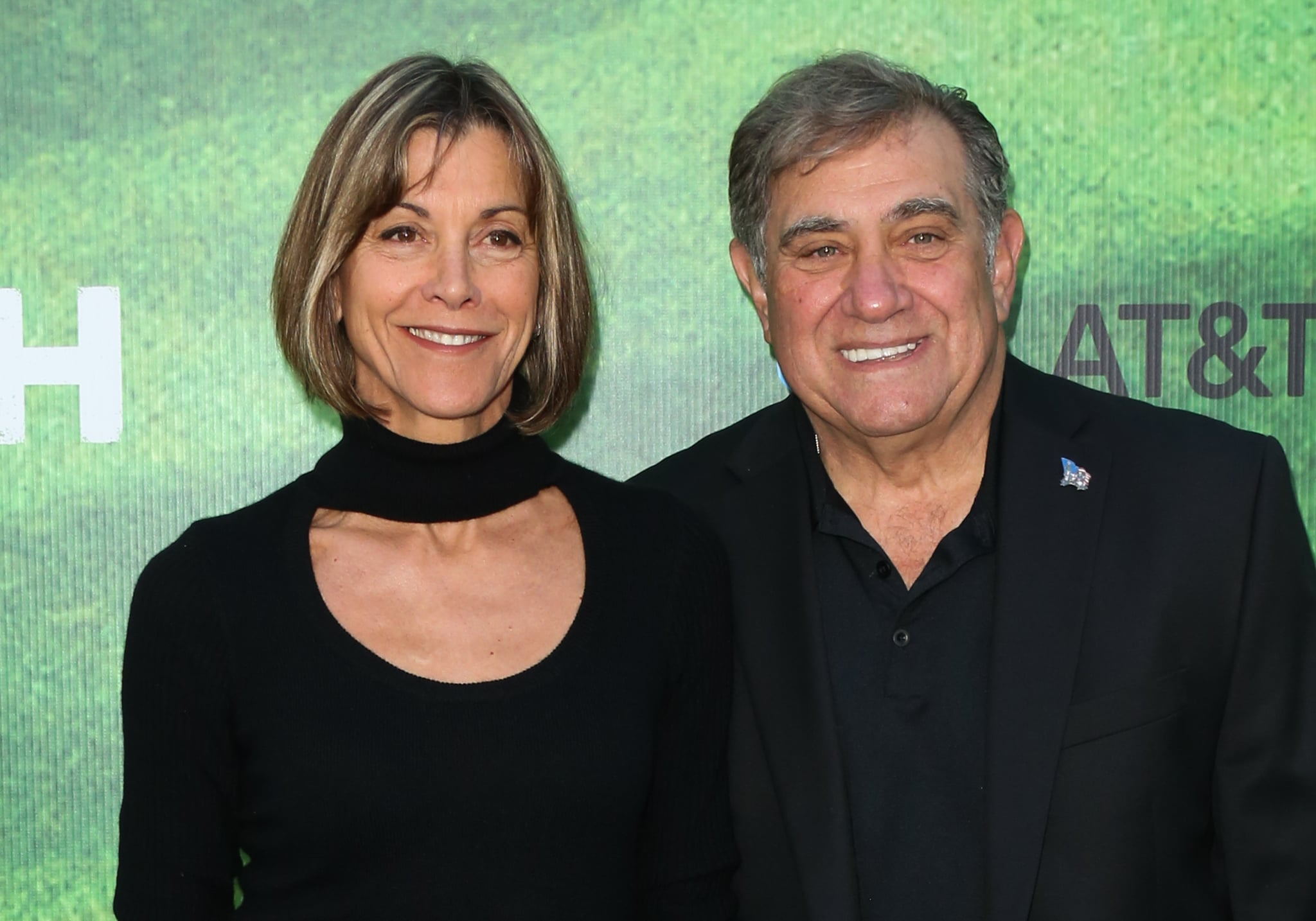LOS ANGELES, CA - SEPTEMBER 13:  Actors Wendie Malick (L) and Dan Lauria (R) attend the premiere of Fox's