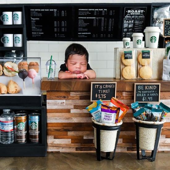Detailed Starbucks Newborn Shoot