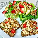 Open-Face Tuna Sandwich With Walnuts