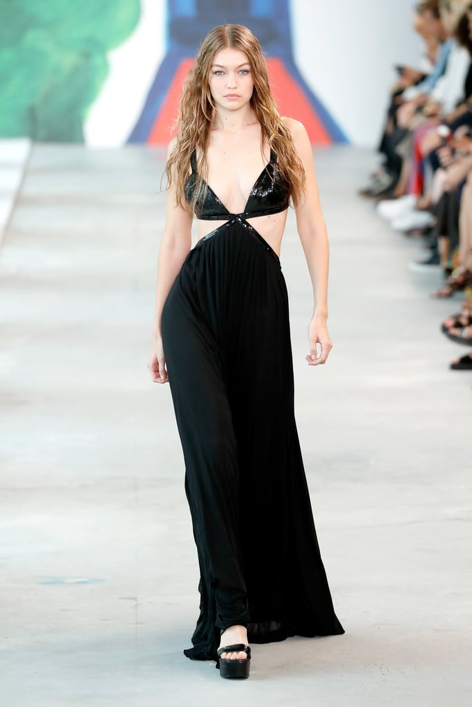 Gigi Closing the Michael Kors Show in a Cutout Gown