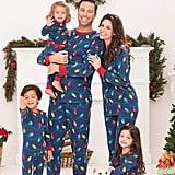 PajamaGram Christmas Lights Matching Pajamas