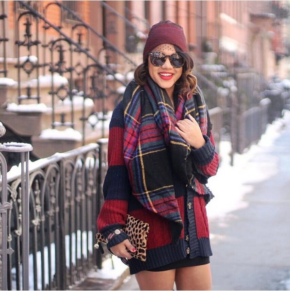 Purposely Mismatch Your Sweater and Scarf