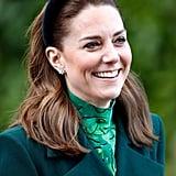 The Duchess of Cambridge in a Velvet Jane Taylor Headband