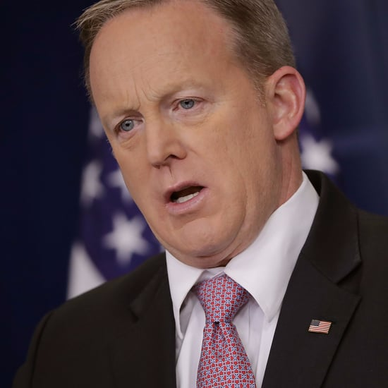 Sean Spicer Upside-Down Flag Pin Memes