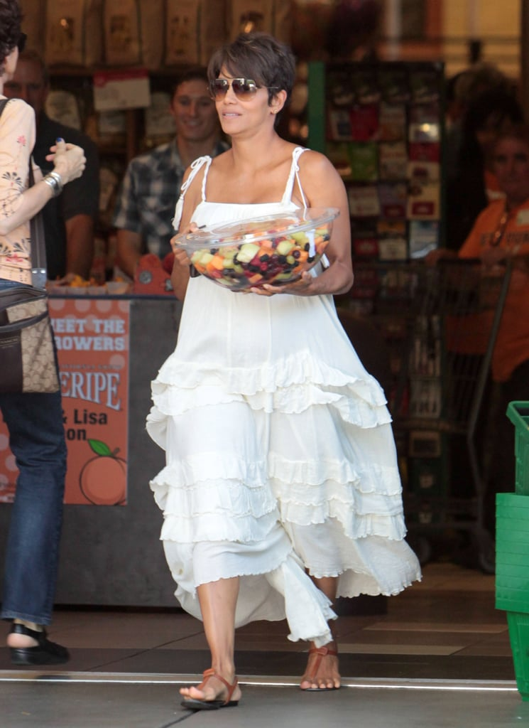Halle Berry Gets in the Summer Spirit With a Huge Fruit Salad