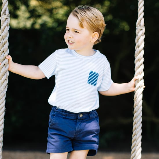 Prince George Whale Sweater and Striped Tee