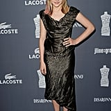 Chloë Moretz showed off a bronze Vivienne Westwood frock, snake-print shoes, and a few pink streaks in her hair.