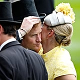 . . . and embracing Harry so hard at Ascot last year that his hat fell off.