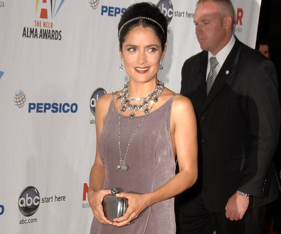 Slide photo of Salma Hayek at ALMA Awards