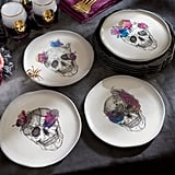 Watercolor Skull Plates