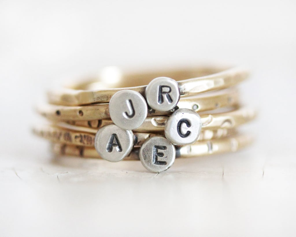 Monogrammed Stacking Rings