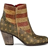 Trust us: you haven't seen anyone else rocking these flag-print Modern Vice ankle boots ($395) — they just came out!