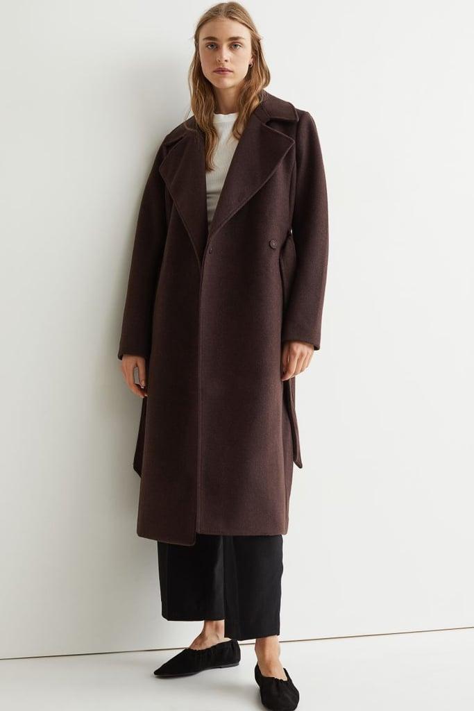 An Affordable Coat: H&M Tie Belt Coat