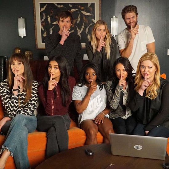 Simone Biles on Pretty Little Liars Set Pictures