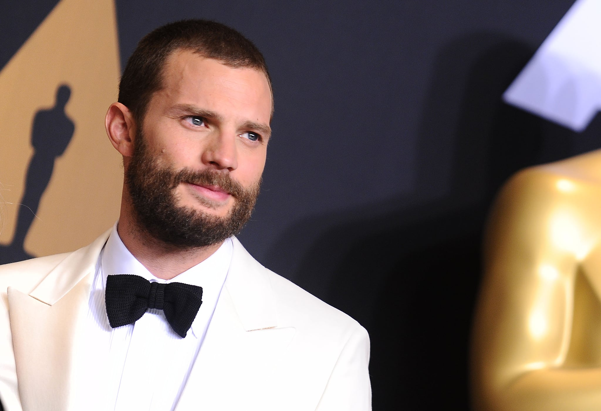 HOLLYWOOD, CA - FEBRUARY 26:  Actor Jamie Dornan poses in the press room at the 89th annual Academy Awards at Hollywood & Highland Center on February 26, 2017 in Hollywood, California.  (Photo by Jason LaVeris/FilmMagic)