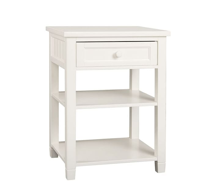 Pottery Barn Beadboard Bedside Table How To Get Organized In - Pottery barn white bedside table