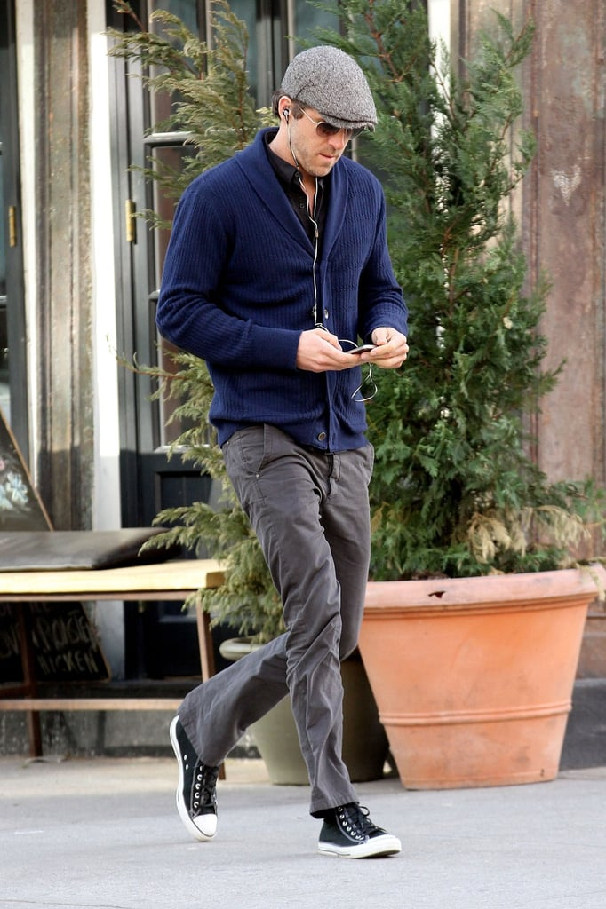 Ryan Reynolds went for a walk in NYC.