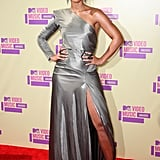 Alicia Keys shone in an Alexandre Vaulthier gown and Gucci shoes.