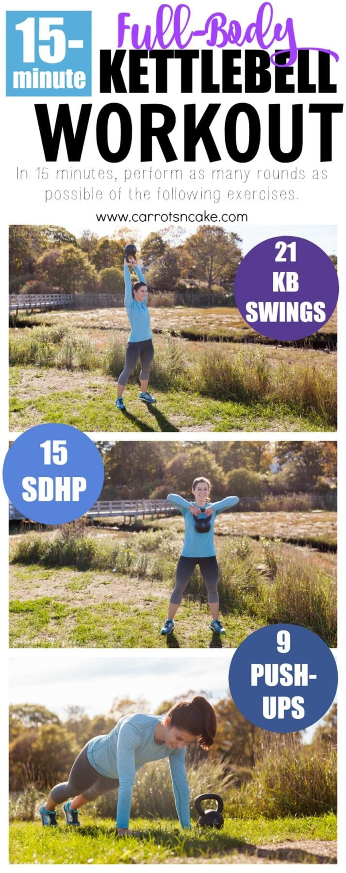 15-Minute Full-Body Kettlebell Workout