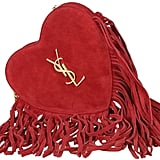 Saint Laurent Heart Fringed Crossbody