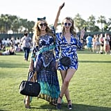 Paris and Nicky Hilton complemented each other in cool shades of blue.