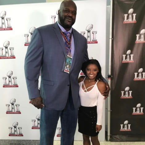Simone Biles and Shaq Super Bowl Photo February 2017