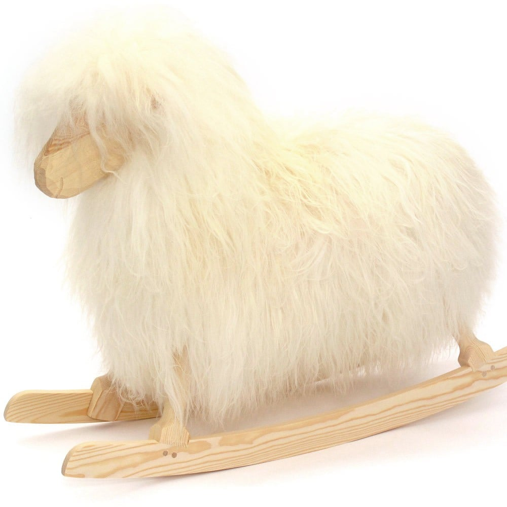 For the Nursery: Danish Crafts Rocking Sheep