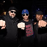 Pictured: Brad Wilk, Tom Morello, and Chuck D.