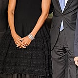 Michelle wore Azzedine Alaia to a NATO conference in early 2011.