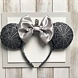 Silver and Black Spiderweb Minnie Ears ($20)