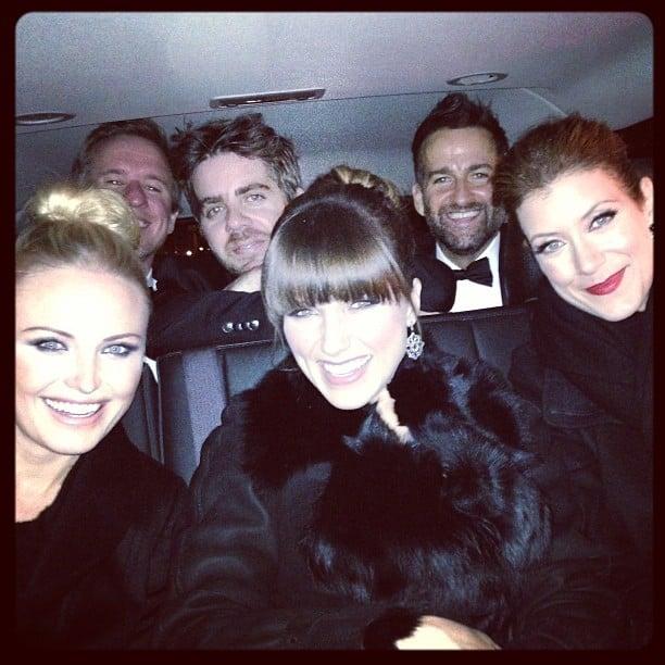 Malin Akerman, Sophia Bush, and Kate Walsh attended the Inaugural Ball together. Source: Twitter user MalinAkerman