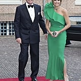 Queen Maxima of the Netherlands wearing Lanvin.