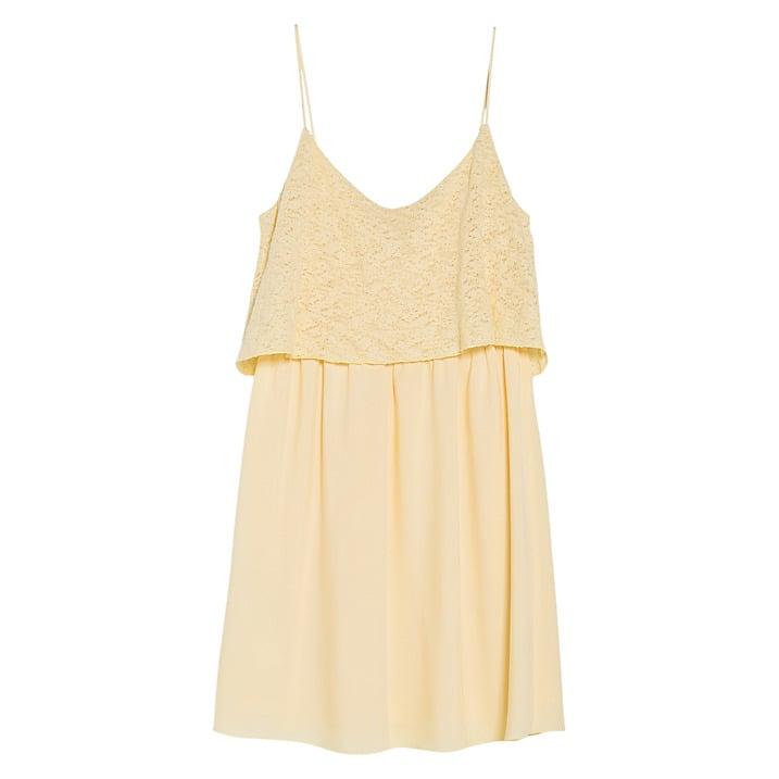 Mango textured ruffle two layer strappy dress (£35)
