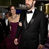 Ben Affleck and Jennifer Garner arrived at the Governors Ball together after the Oscars.