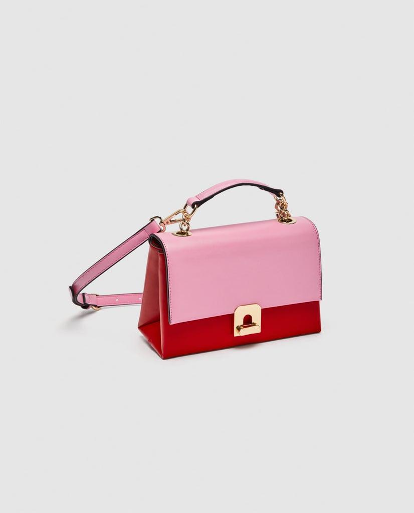 Zara Two-Tone Mini City Bag