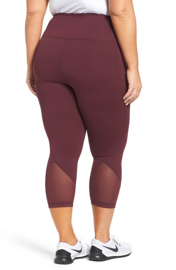 "zella plus-size ""hatha"" high-waist crop leggings 