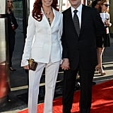 Carrie Preston and Michael Emerson were hand-in-hand on the red carpet.