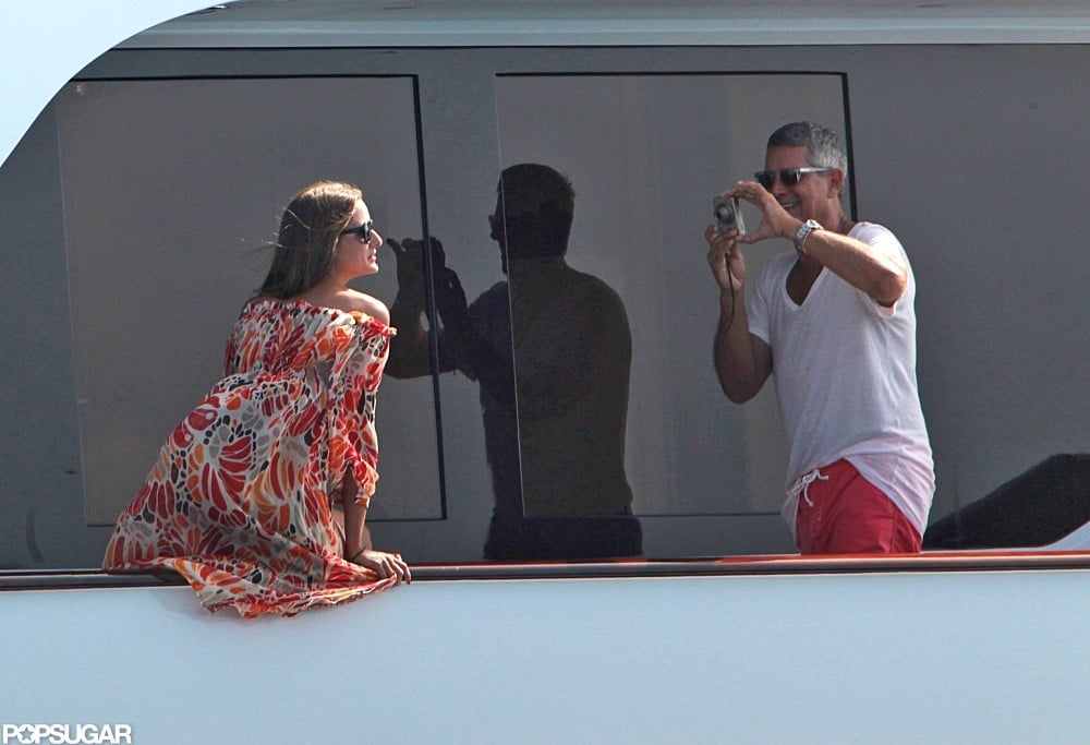Olivia Palermo struck a pose while yachting around Spain in August 2012.