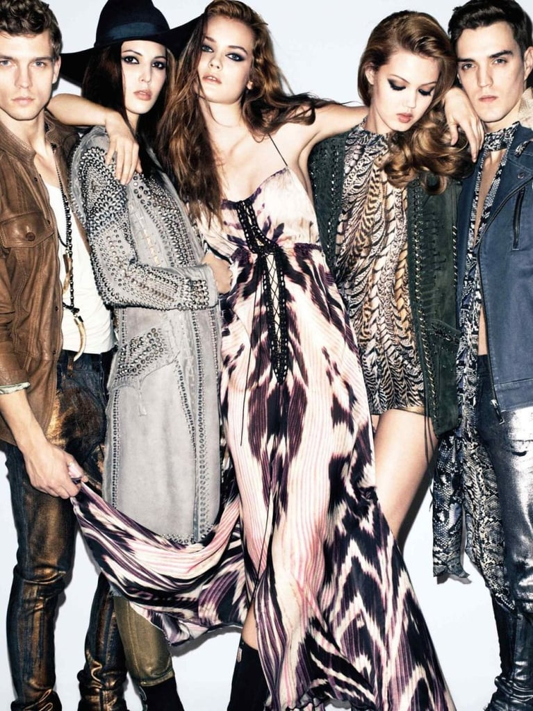 Exotic prints and light silk pieces take over Just Cavalli's Spring ad. Source: Fashion Gone Rogue