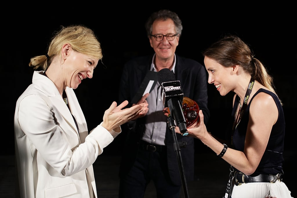 Cate Blanchett, Geoffrey Rush and Alethea Jones