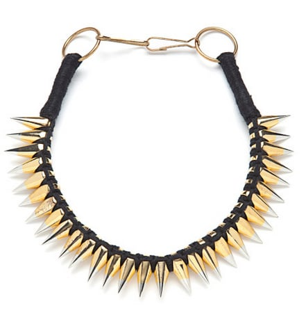 Give your neck the punk treatment with this A.L.C. two-toned spike necklace ($325). Pair it with everything from tanks and tees on the weekend to your silky button-down at work.
