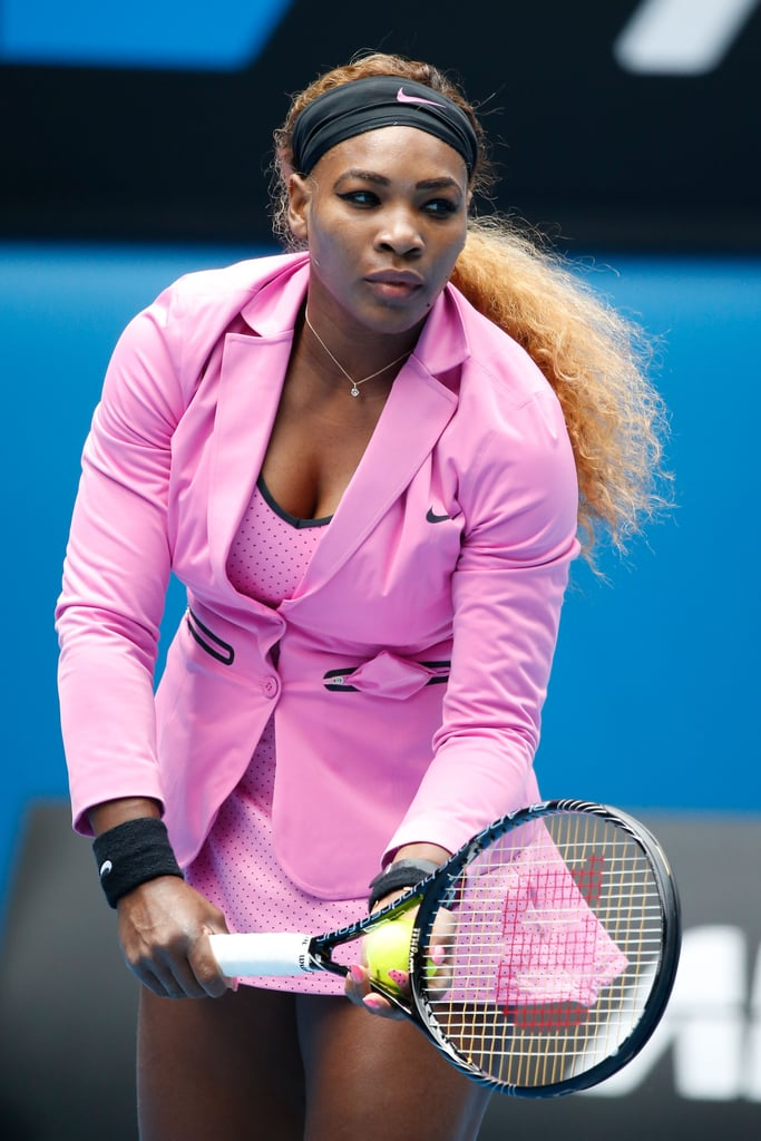 Only She Could Pull Off a Blazer at the 2014 Australian Open
