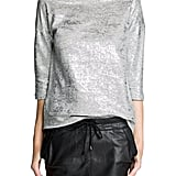 Add a little pizzazz to your look — day or night — with this Mango metallic detail cotton-blend sweatshirt ($50).