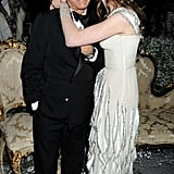 Giancarlo Giammetti, Anne Hathaway in Valentino couture