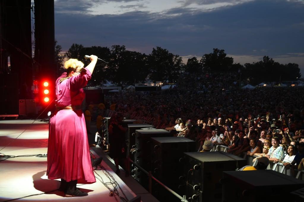 Brittany Howard of Alabama Shakes performing at sundown in 2015.