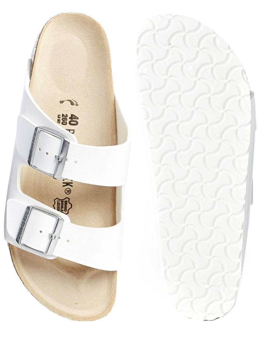 Birkenstock Arizona white double-strap flat sandals ($94)