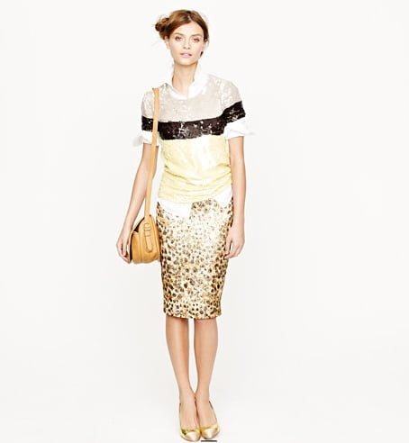 When leopard print meets brocade, we get one gorgeous skirt to style up or down for work and beyond. J.Crew Collection Cheetah Brocade Pencil Skirt ($298)