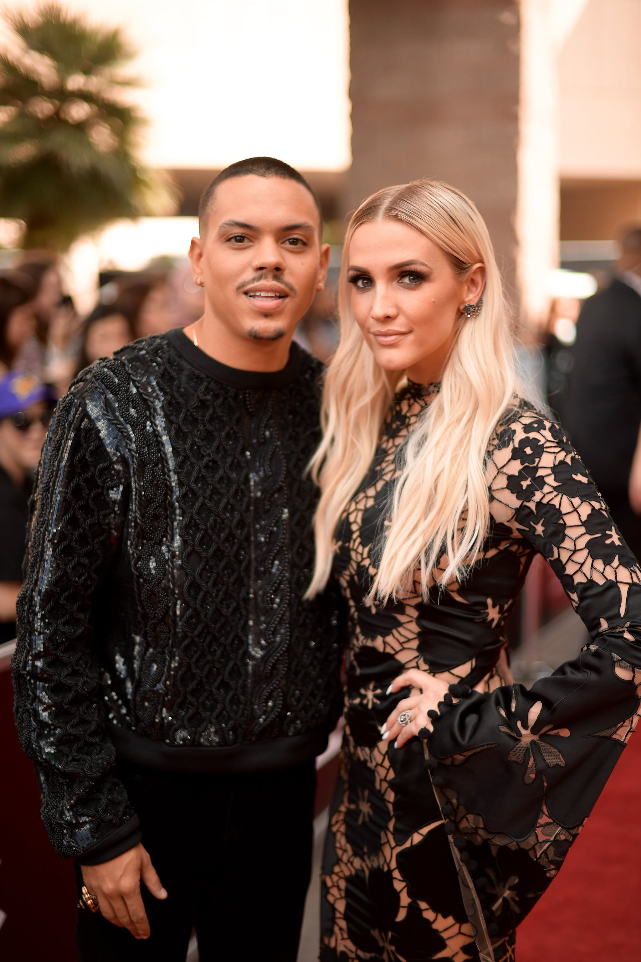 LAS VEGAS, NV - MAY 20:  Actor Evan Ross (L) and recording artist Ashlee Simpson attend the 2018 Billboard Music Awards at MGM Grand Garden Arena on May 20, 2018 in Las Vegas, Nevada.  (Photo by Matt Winkelmeyer/Getty Images for dcp)