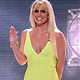 Britney Spears gave a wave to her fans.
