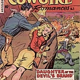 "Giddyap, it's Cowgirl Romances, full of ""heartwarming thrillers of ranch and range!"" Source: Wikimedia Commons"